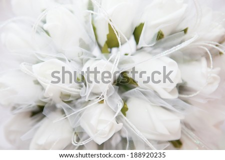 White Roses with Copy Space
