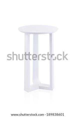 white round table isolated on white background - stock photo