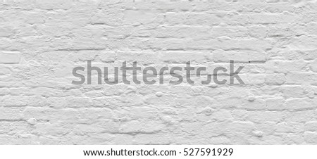 White Rustic Brick Texture Retro Whitewashed Old Wall Surface Vintage Structure Grungy
