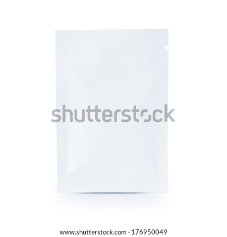 white sachet hanger bag package - stock photo