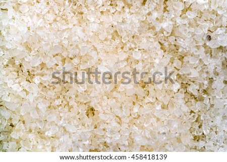 White salt crystals, background