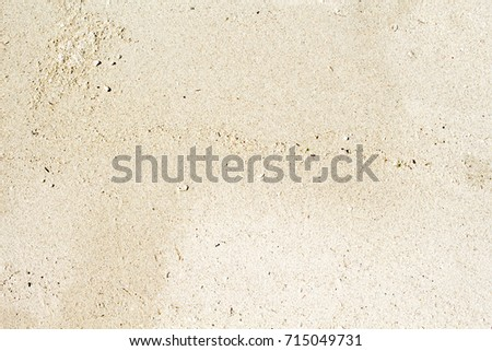 White Sand Beach Top View Photo Smooth Coral Texture Seaside Wanderlust Banner Template