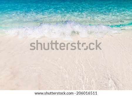 White sand beach with crystal clear water, Similan Island, Thailand - stock photo