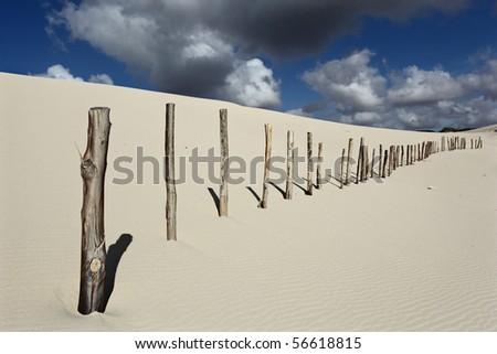 White sand dune - stock photo
