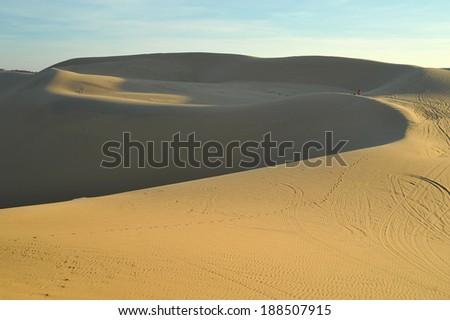 White Sand Dunes in Mui Ne, Vietnam - stock photo