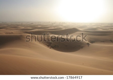 White sand storm - stock photo
