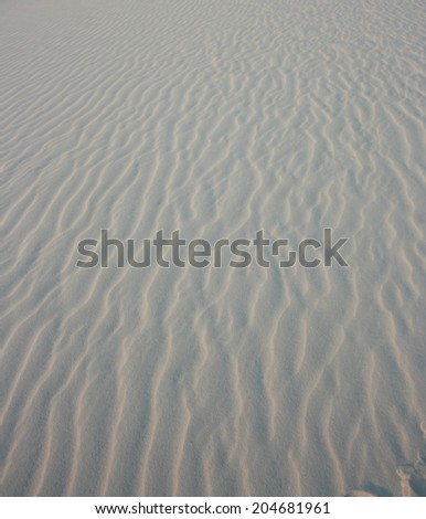White sand wave pattern, vertical - stock photo