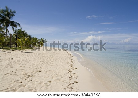 White sands beach - cocoloco island, philippines, palawan