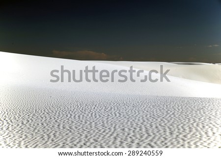 White Sands Desert, New Mexico, USA - stock photo