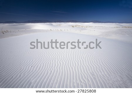 White Sands National Park in New Mexico USA - stock photo