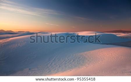white sands new mexico - stock photo