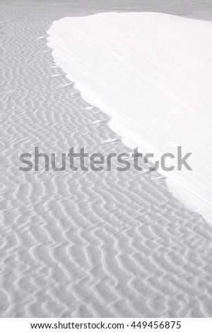 White sands, New Mexico.  A sea of gypsum - stock photo