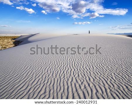 White Sands Ripple - New Mexico desert - stock photo