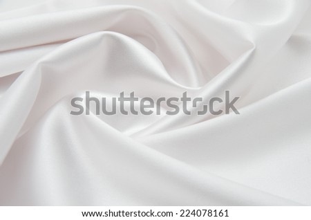 white satin fabric as background - stock photo