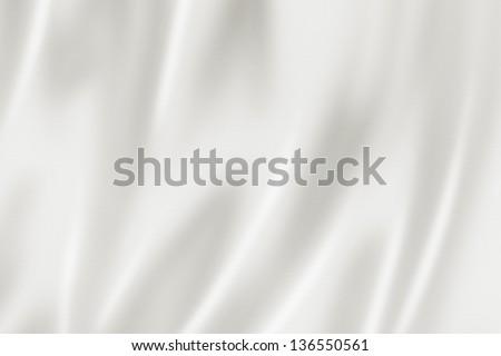 White satin, silk, texture background - stock photo