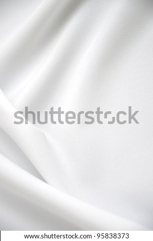 White satin with copy-space - stock photo