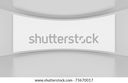 White Screen - stock photo
