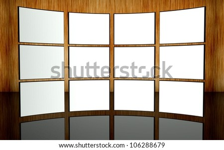 White screen wall background - stock photo