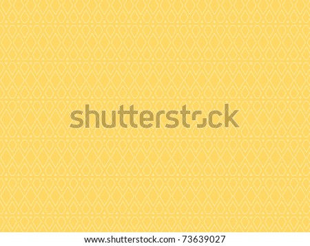 white seamless abstract pattern on light yellow background - stock photo