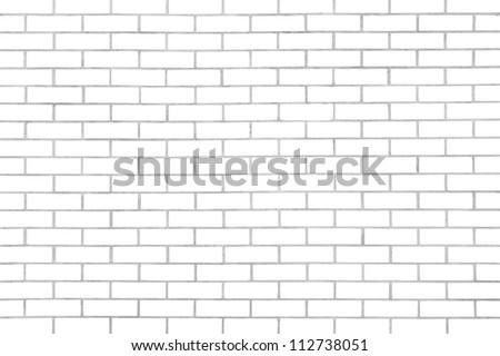 White seamless brickwall with repeating pattern - stock photo