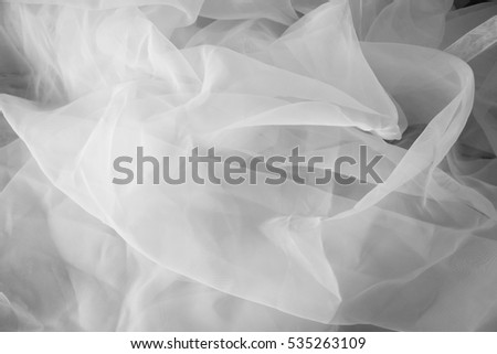 White see through fabric with wrinkle. (Organdy)