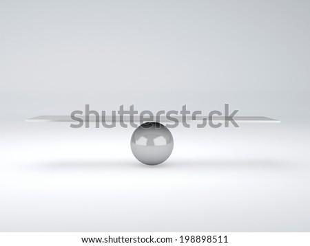 white seesaw. Balance concept - stock photo