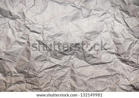 White sheet of crumpled paper. - stock photo