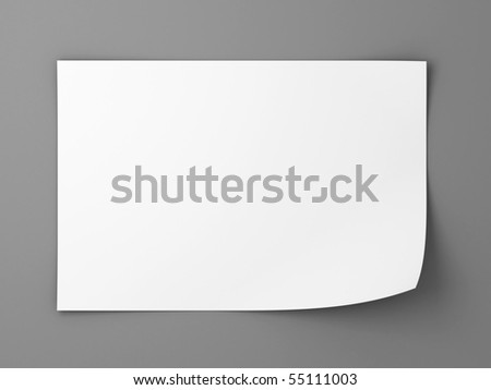 white sheet of paper - stock photo