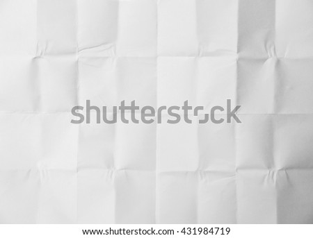 White sheet of paper folded texture
