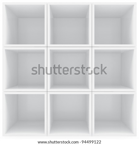 White shelves - stock photo