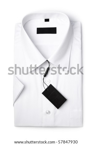 White shirt isolated ower white - stock photo
