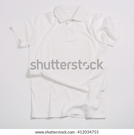 White shirt on a white background - stock photo