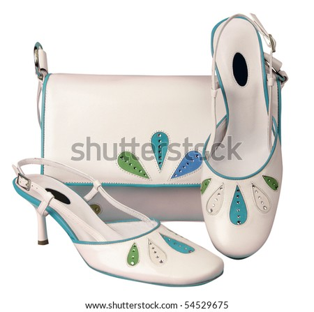 white shoes and bag