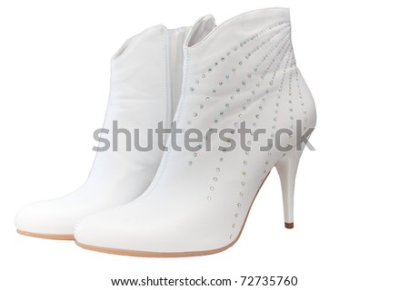 White shoes of the bride