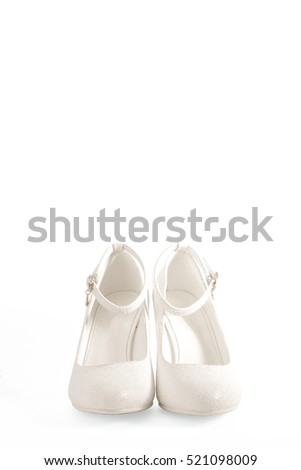 white shoes, white background