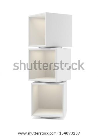 White showcase - stock photo