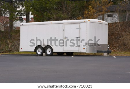 White Side Trailer - stock photo