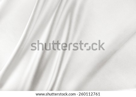 White Silk Fabric for Drapery Abstract Background - stock photo