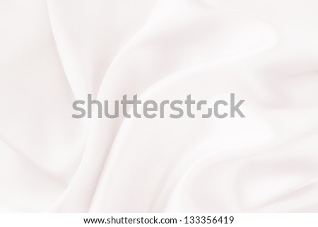 White silk fabric - soft, elegant and delicate wedding invitation background - stock photo