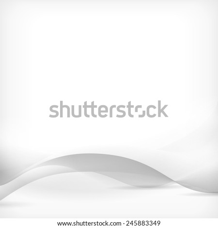 White, silver design with a clean elegant wave pattern for business concepts, presentations with creative, technological style. Modern brochure, website backgrounds. - stock photo