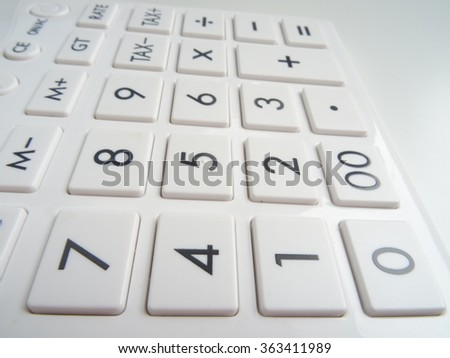 White simple Calculator