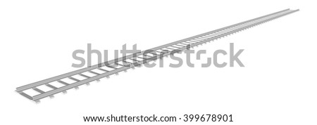 White sleepers and rails on a white background 1