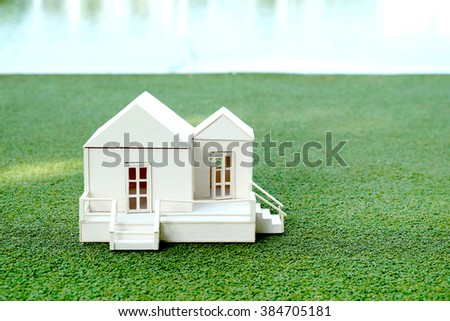 white small house model