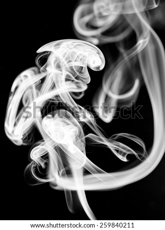 white smoke abstract on black background texture