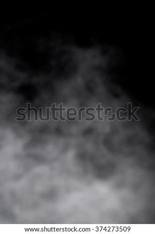 white smoke against a dark background - stock photo