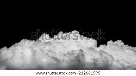 white smoke cloud background on black - stock photo