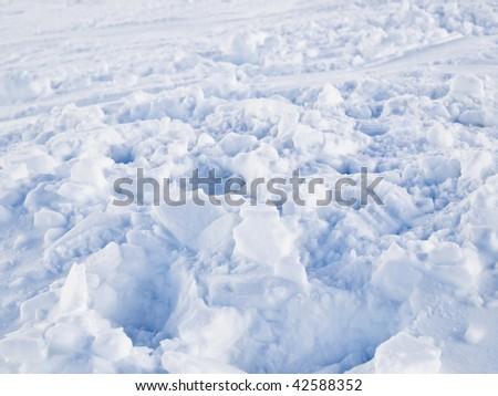 White snow background - stock photo