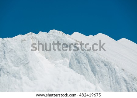 White Snow peak against the sky