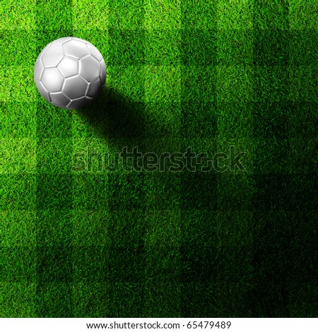 white soccer football on grass field