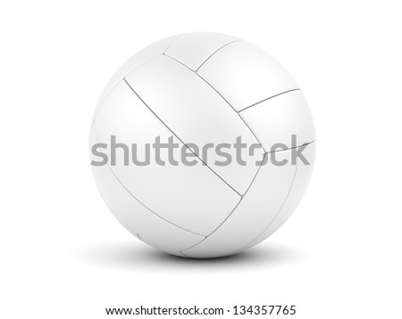White soccerball closeup. 3d illustration. - stock photo
